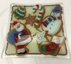 Peggy Karr 9 3 4 Square Christmas cookies plate tray