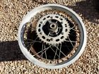 1986 Honda XL250R rear wheel, rim hub spokes sprocket, 2.15x17 DID