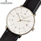 JUNGHANS MAX BILL 027 4700 00 Automatic Date White Dial Black Leather