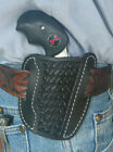 Leather Holster NAA Black Widow 2 North American Arms Ruffs Basket Weave Black