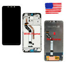 Black For Xiaomi Pocophone F1 LCD Display Touch Screen Digitizer + Frame Replace