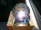 HUGE PAPERWEIGHT 120MM CUT CRYSTAL W BEVELED MIRROR GREAT RAINBOW FR SP