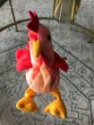 Ty Beanie Doodle the Rooster Retired and RARE with Errors
