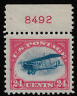 US Sc C3 1918 24 Airmail Plate Number 8492 Mint OG NH XF With APS Certificate
