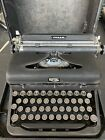 Vintage near mint condition Royal arrow Portable Typewriter glass keys