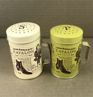 Vintage Salt and Pepper Shaker Metal Sears Catalog Print Large 4 With Box