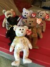 TY Beanie Babies The Signature Bears 1999,2001-2005 Lot Of 6