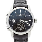 Ulysse Nardin Dual Time Black Dial Auto SS Mens Strap Watch 3343-126/92