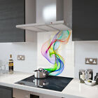 Glass Splashbacks Rainbow Wave Glass and Accessories Made By Premier Range
