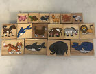 Lot 16 Animal Rubber Stamps Melissa And Doug