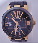 18k Rose Gold Huge Ulysse Nardin Executive Dual Time GMT 34J Watch 246-00