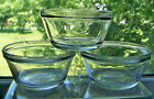 Set of 3 ~ VINTAGE Anchor Hocking 1034 Custard Dessert Cup 6 oz Clear Glass USA
