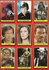 STAR WARS RETURN OF THE JEDI SERIES 1 1983 TOPPS BASE & STICKER CARD SET 132 33
