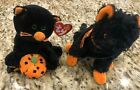 Ty Beanie Baby Babies Halloween Black Cat Superstition and Fraidy