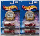 2001 Hot Wheels 56 Ford Duckwall ALCO Stores 100 Years Real Riders Lot of 4