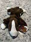 TY BEANIE BABY Bruno the Dog with tag 1997 PVC Pellets 5th Generation