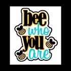 Bee Who You Are Scrapbook Title Premade Paper Piece