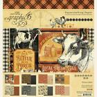 Graphic 45 Farmhouse 8x8 Paper Pad 24 Sheets Family Scrapbook