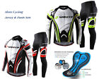 Mens Cycle Clothing Sets Cycling Jersey  Pants Padded Pro Cyclist Uniforms