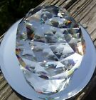 HUGE 80 MM FACETED LEAD CRYSTAL PRISM OPTICALLY PURE RAINBOWS FREE SHIPPING