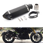 Stainless Steel Motorcycle Rear Muffler Exhaust Tail Pipe Silencer Inlet Parts
