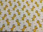 NEW SOFT BABY GIRAFFE FLANNEL 1 YD FOR QUILTS OR MASKS