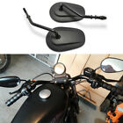 For Harley-Davidson Sportster 883 Low XL883L Motorcycle Rear View Mirrors Black