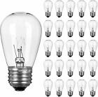 Replacement Light Bulbs Glass Fixture 26 Pack For Outdoor Patio String Lights