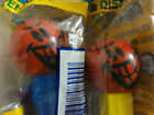 PEZ lot 2 Funky Faces Mischievous Blue & Yellow Stem HUNGARY 4.9
