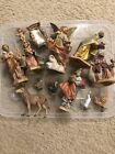 Vintage Christmas Nativity 14 piece Figure Set Fontanini Italy 1991 1992 1996