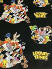 LOONEY TUNES BUGS TAZ TWEETY COTTON FQ 1 4 YD 18x22 perfect for Masks