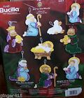 Bucilla JOY TO THE WORLD Felt Christmas Ornaments Kit Nativity Manger Jesus OOP