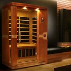 Dynamic Venice 2 Person Low EMF Under 8MG Far Infrared Sauna 6 Carbon Heater NEW