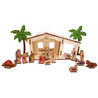 Nativity Set + 16 items 3D wooden puzzle colored Christmas gifts children