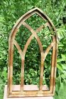 1 Gothic Inspired Arched Window Frame Display Distressed Wood 30 1 2 3