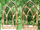 2 Old Cathedral Window Frame Display Distressed Wood 30 1 2 3