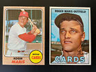 Roger Maris 2 Card Lot; 1967 Topps, #45 1968 Topps #330 NM+ CENTERED - MUST SEE!