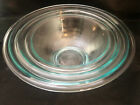 Set of 3 Pyrex Clear Glass Bowls 322-323-325 EXcellent Cond