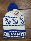 NWT Newport Anchor Beanie Hat  By The Game Pom Pom Cap Spell Out (H1)