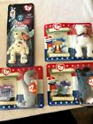 Ty beanie babies tiny American Trio, Lefty, Righty & Libearty, AND Glory