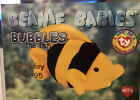 TY Beanie Babies BBOC Card - Series 1 Birthday (BLUE) - BUBBLES the Fish - NM/M