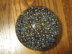 Dynasty Gallery Art Glass Millefiori Multi Color Paperweight