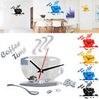 3D Acrylic Mirror Wall Sticker Clock Removable Home Room Wall Decal Decor DIY