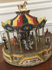 Lemax Village Collection Belmont Carousel Turns To Music, Animals Goes Up