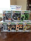 minecraft funko pop lot