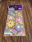 Scrapbooking Crafts Stickers EK Success Sticko Fanciful Flowers Blue Pink Yellow