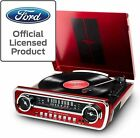 ION 1965 RED FORD MUSTANG LP CAR STYLED TURNTABLE RECORD PLAYER USB AM FM