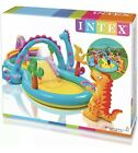 Kids Inflatable Pool Dinosaur Play Centre Outdoor Kids Paddling Water Slide