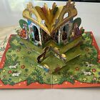 Vintage Large Pop Up Christmas Card Advent Calendar Nativity Scene From Sweden