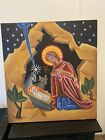 Huge hand painted Orthodox Nativity Icon